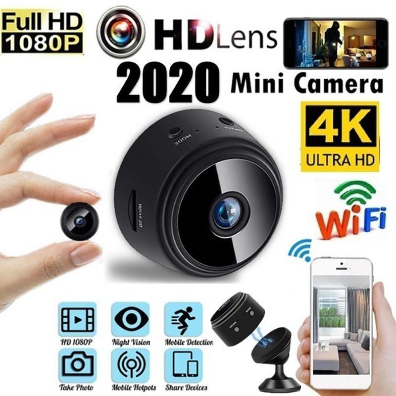 Kameralar Mini Kamera App Full HD 1080 PAM 150 Derece Görüş Açısı Kablosuz Wifi IP Ağ Monitörü Güvenlik Gece Sürümü