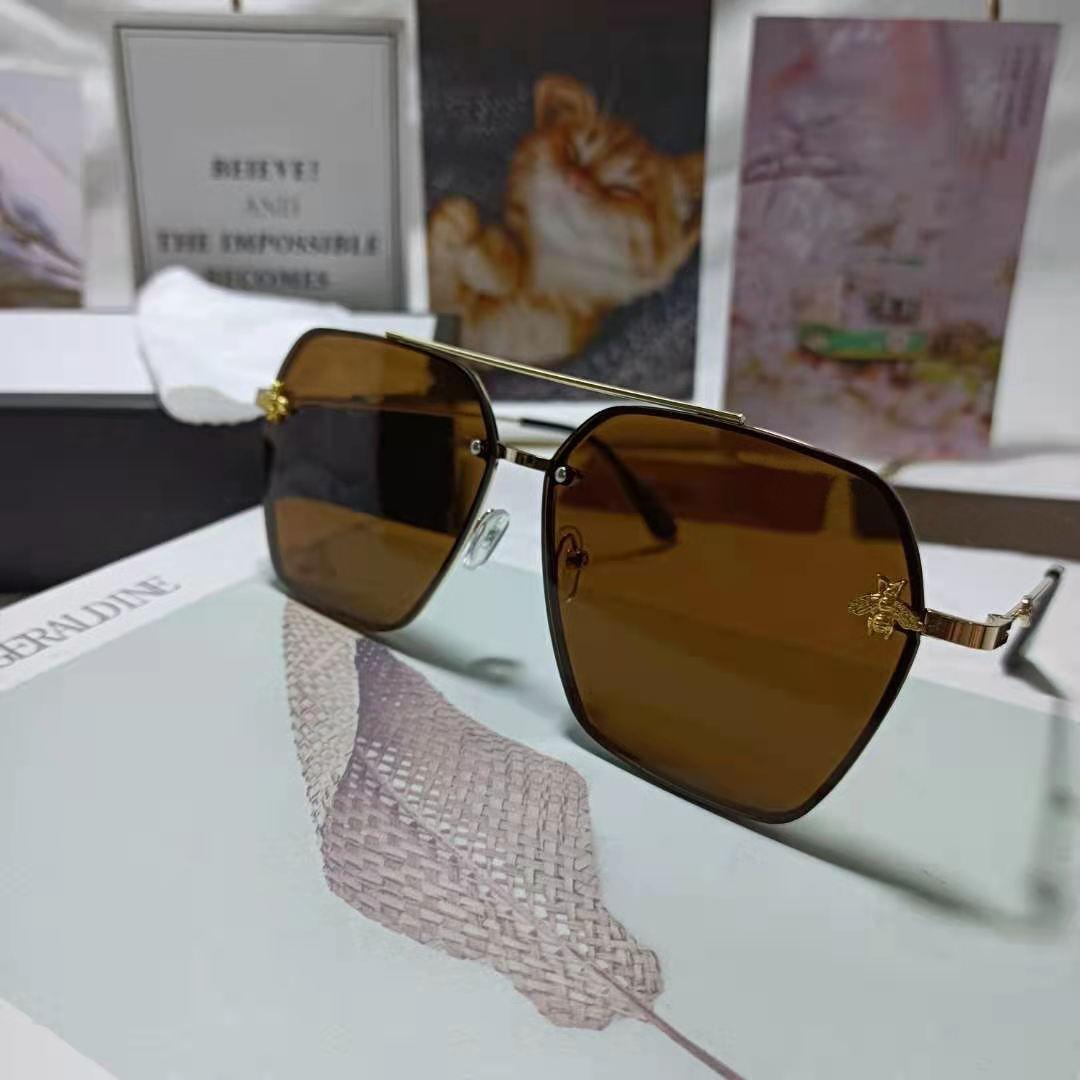 Fashion glasses designer polarized sunglasses retro bee sunglasses UV400