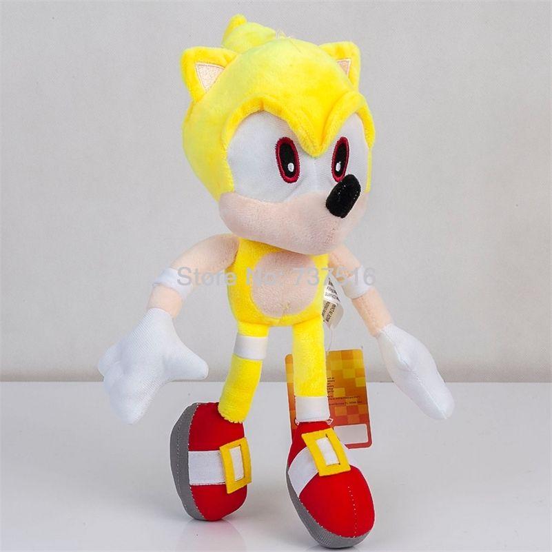Neue Fly Gelb Super Sonic Plüsch Weiche Puppe Gefüllte Tier Kinder Spielzeug Kinder 13 Zoll Geschenk LJ201126