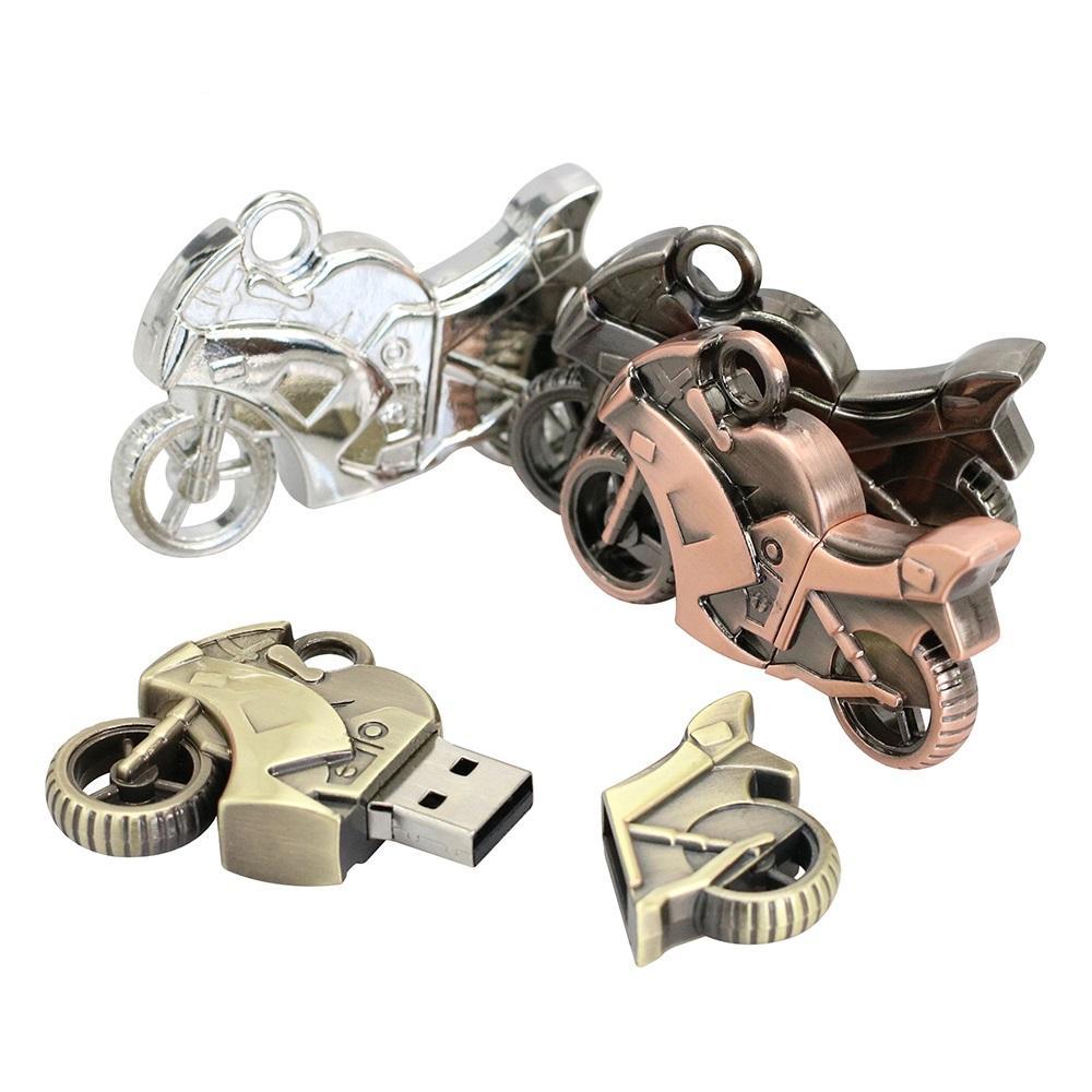 Smart USB Flash Drives 256MB Metal Motorcycl Car USB Memory Stick 128GB USB 2.0 Storage Pen Drives 8GB 16GB 32GB 64GB Pendrives