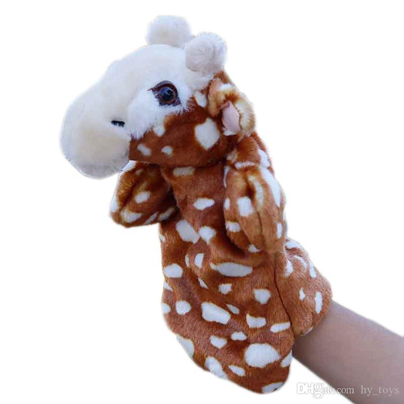 Plush Hand Puppet Pretend Animal Toys Baby Educational Play Puppets For Doll Telling Hand Story Toy Cartoon Children Kid Cartoon Afhcb