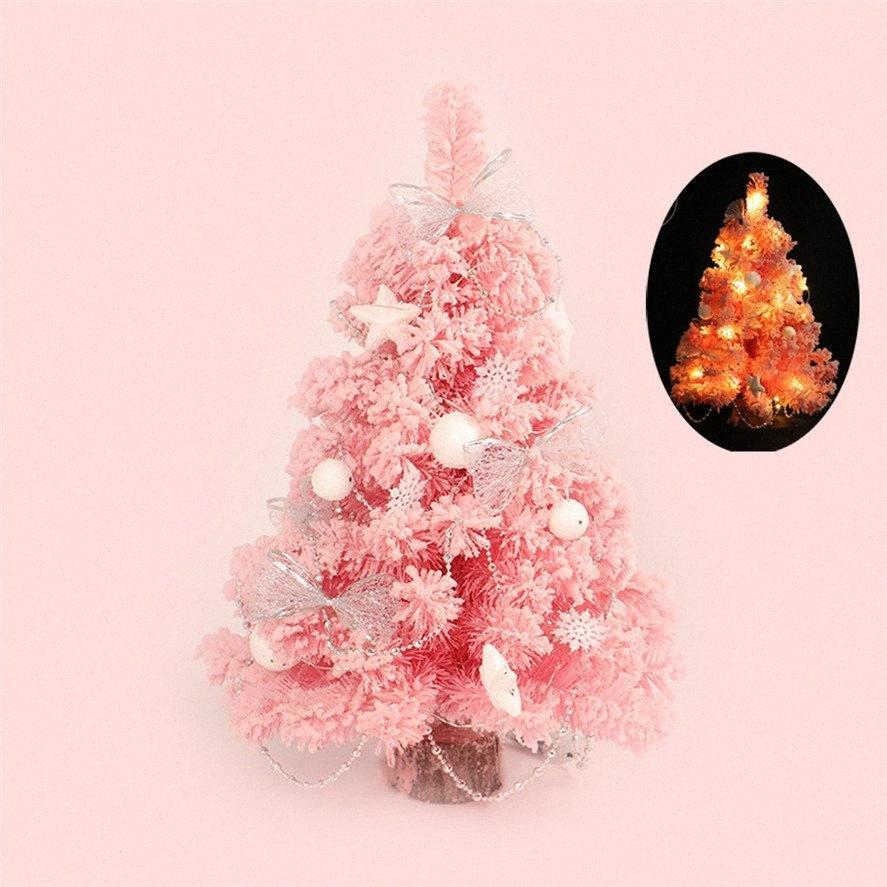 Partido del árbol de Navidad árbol de nueva decoración de Navidad LED 30CM LED creativo artificial interior de la Navidad de Navidad Inicio de mesa Decoración 30 8uUY #