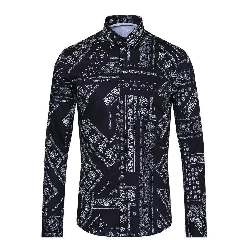 Yeni Varış Yüksek Kalite Pamuk Moda Marka Mektubu Aile Tarzı Tam Vücut Dijital Baskı Erkekler Casual Gömlek Boyutu M l XL2XL3XL