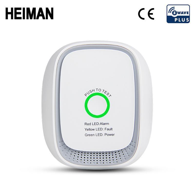 Heiman Zwave 908.42 МГц на американский газ Журнал LPG Детектор утечек Z Волна пожарная сигнализация Система тревоги Безопасность Z-Wave Умный дом