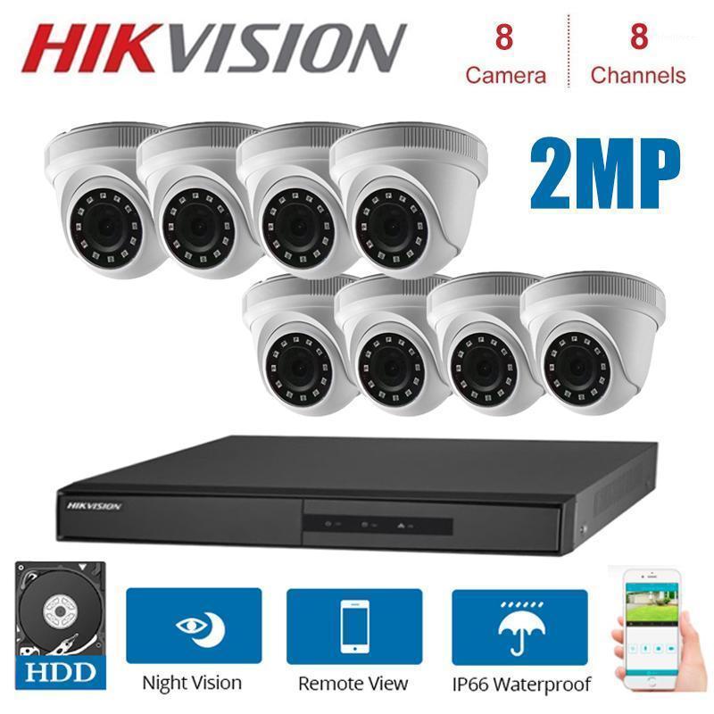 1080p 8Channels Kits de surveillance Hikvision avec 2MP 4 en 1 HD Caméra Netwerk Intérieur Vision Night Vision CCTV Système de sécurité Kits1
