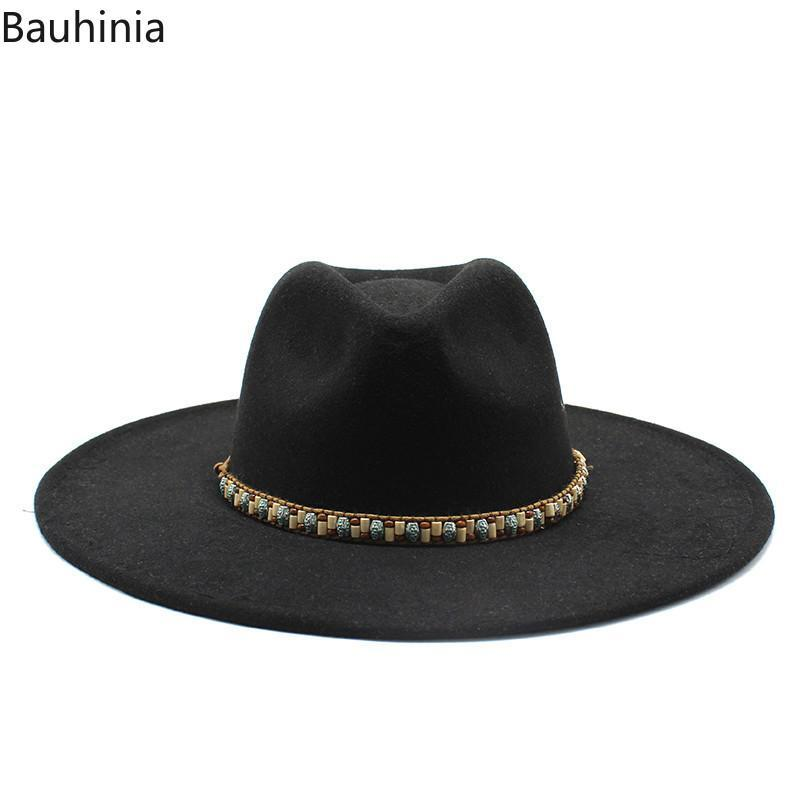 Панама зима осень новых женщин шерсти Vintage Trilby Войлок Fedora Hat с широкими полями Джентльмен Elegant Jazz Caps