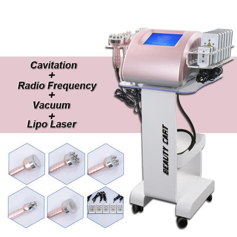 2 ans Garantie Cavitation ultrasonique FAT Minceur Machine Lipo Life Lift Perte de poids Radio Fréquence Serrer la peau Equipement de beauté 5 têtes