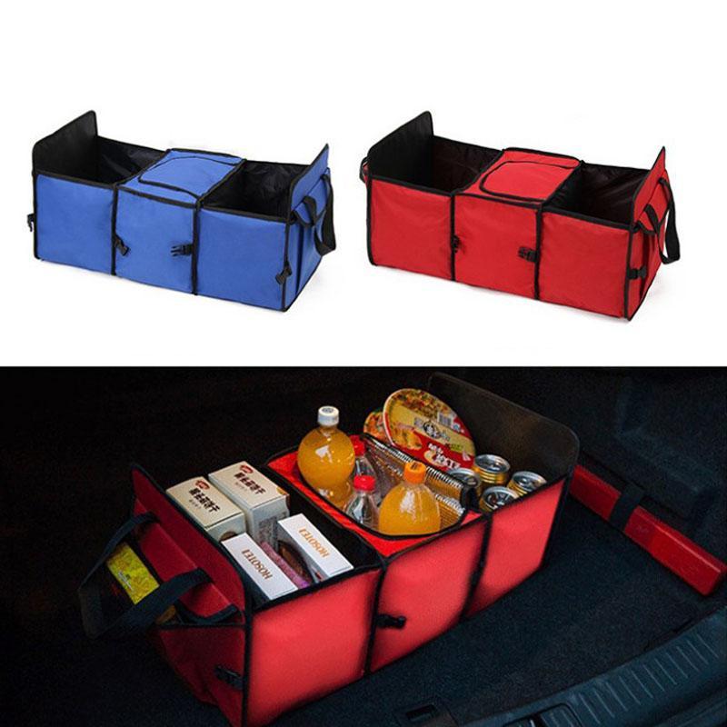 DHL Бесплатная Доставка Горячие Продажи Автомобиль Багажник Хранение Контейнер Сумка Автомобиль Мультифункциональная Складная Изоляция Хранение Коробка хранения Ящик Назад Набор