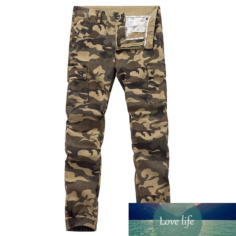 Primavera para hombre camo carga hombres joggers impulso militar streetwear casual hip hop cinta algodón ejército pantalones 38