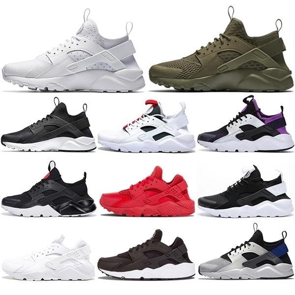 2020 Chaussettes gratuites gratuites Huarache 1.0 4.0 Chaussures de course pour femmes Hommes Blanc Pure Platinum Fashion Sports Sports Sports Sport pour hommes
