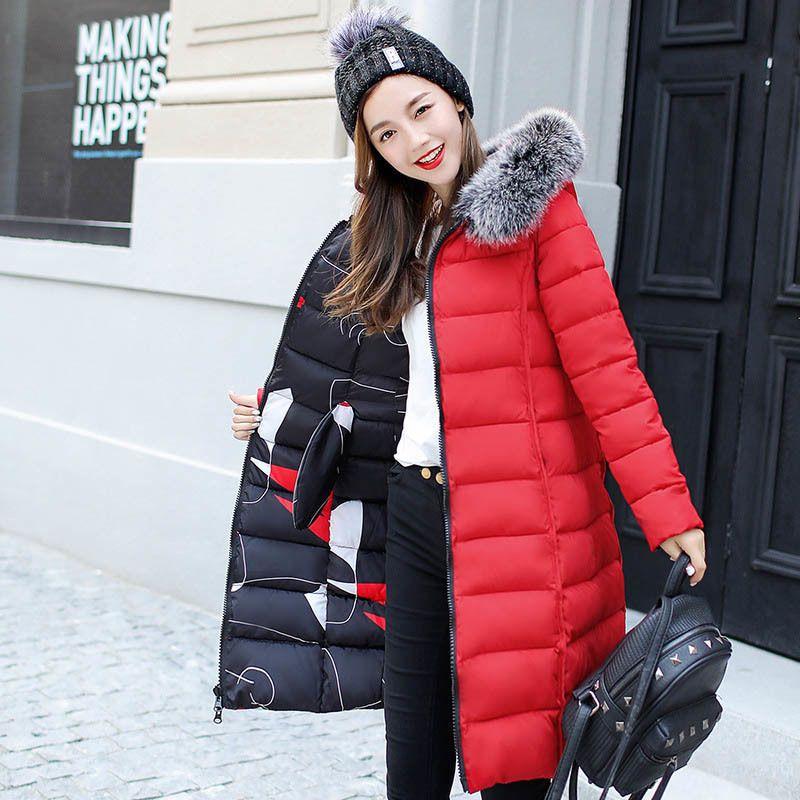 URSPORTTECH Marca Mujeres largo de Down Parka Chaqueta reversible invierno de las mujeres abajo capa de la chaqueta con capucha del tamaño extra grande de las mujeres de gran tamaño 3XL 200930