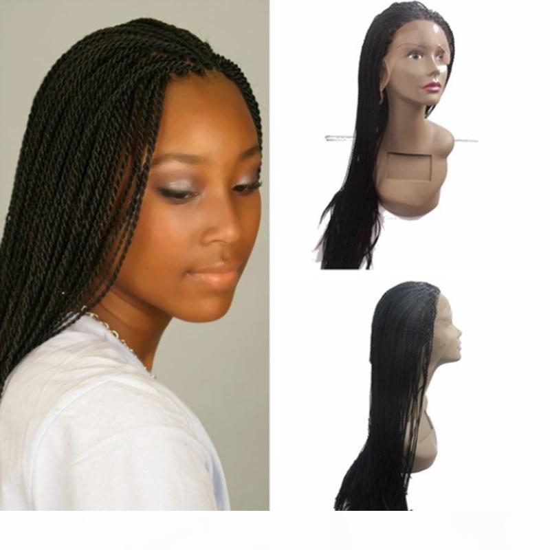 هوت مبيعات الأفريقية قسط الأمريكية الاصطناعية السوداء الصغيرة تطور الشعر المستعار مضفر الرباط الجبهة الباروكات طفل حرارة الشعر الألياف مقاومة للمرأة السوداء