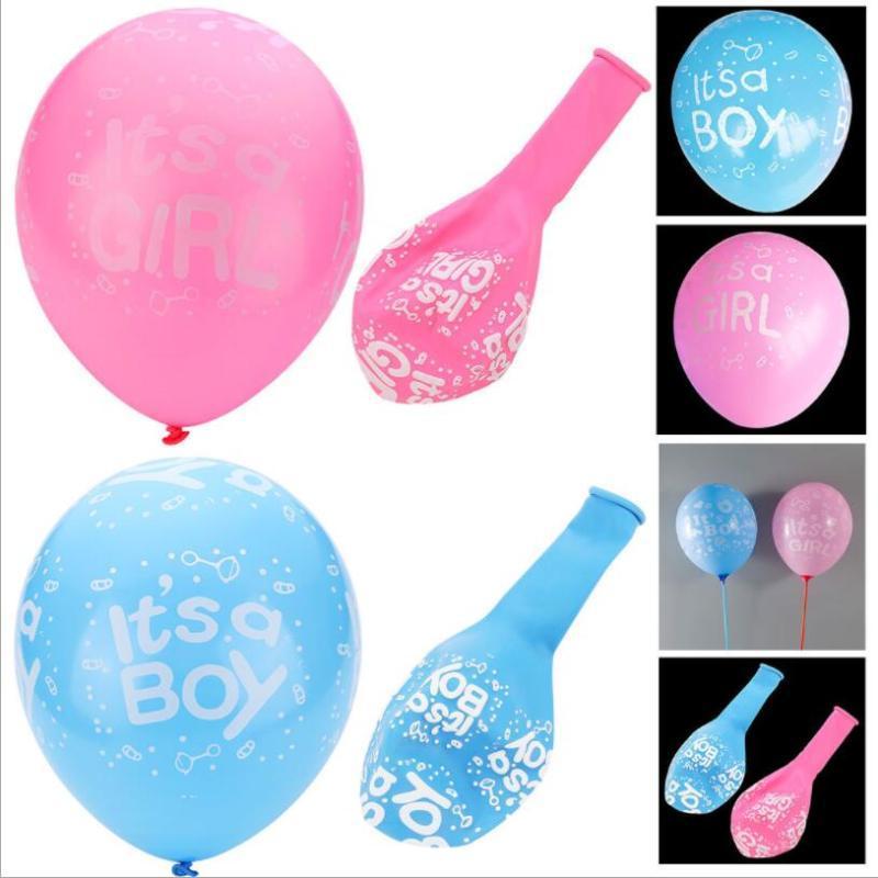 10Pcs Es ist ein Junge oder es ist ein Mädchen-Baby-Latex Ballons für Hochzeit Geburtstag 1. Babyparty-Partei-Dekoration Ballon