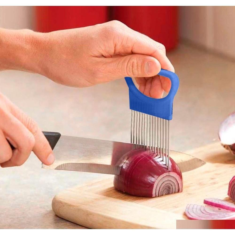 Fruit Vegetable Kitchen Kitchen, Dining Bar Home Garden Drop Delivery 2021 Shrendders & Slicers Tomato Onion Vegetables Slicer Cutting Aid Ho