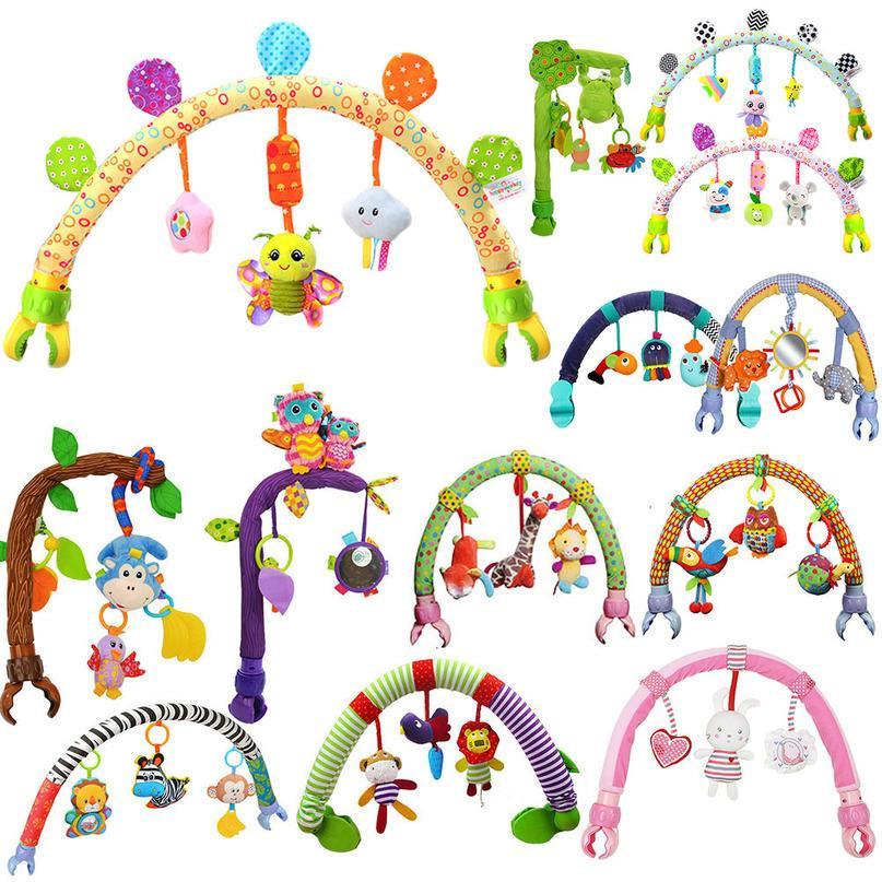 Gewölbte Baum Baby hängen Spielzeug Kinderwagen Bett Krippe Plüsch Rasseln Mobile Nette Tiere Affen Vögel Spielzeug Für Tots Cots Seat LJ201114