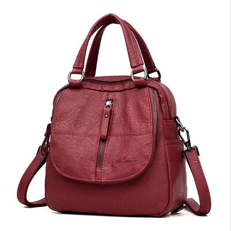 bolsas mochila bolsa de la bolsa de mensajero del pecho mochila bolsa de moda helados de hombro Bolsos de cuero de alta calidad de las mujeres 2020 Nueva caliente