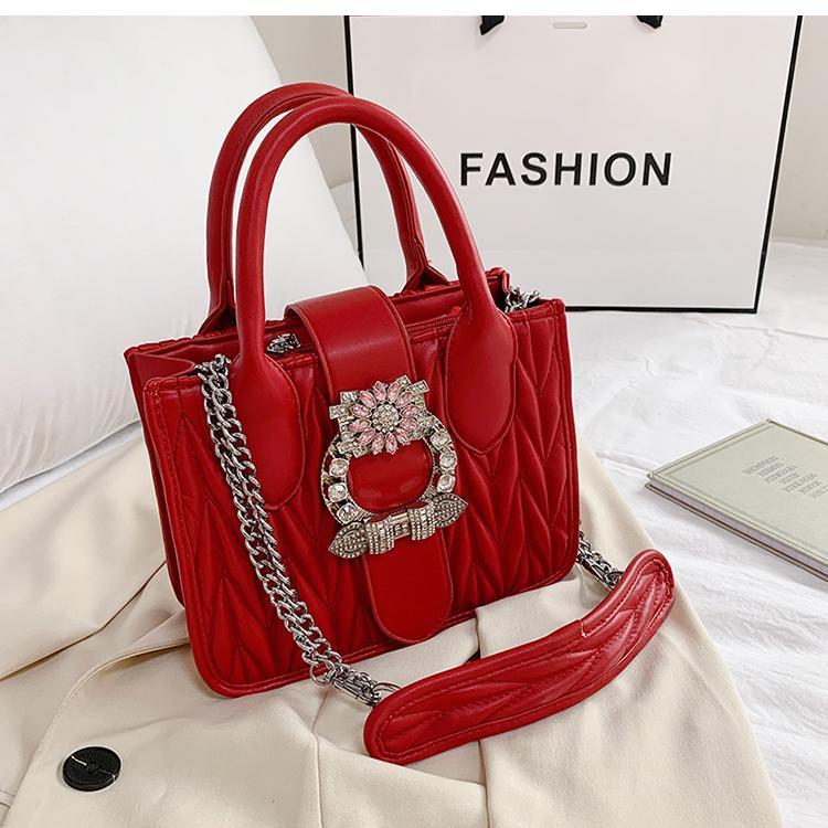 HBP Frauen Neue Mode Neue Dame Diamant Hohe Mode Süße 2021 Kette PU Handtasche Leder Qualität Dame Designer Handtasche Schulter Messenge Dugo
