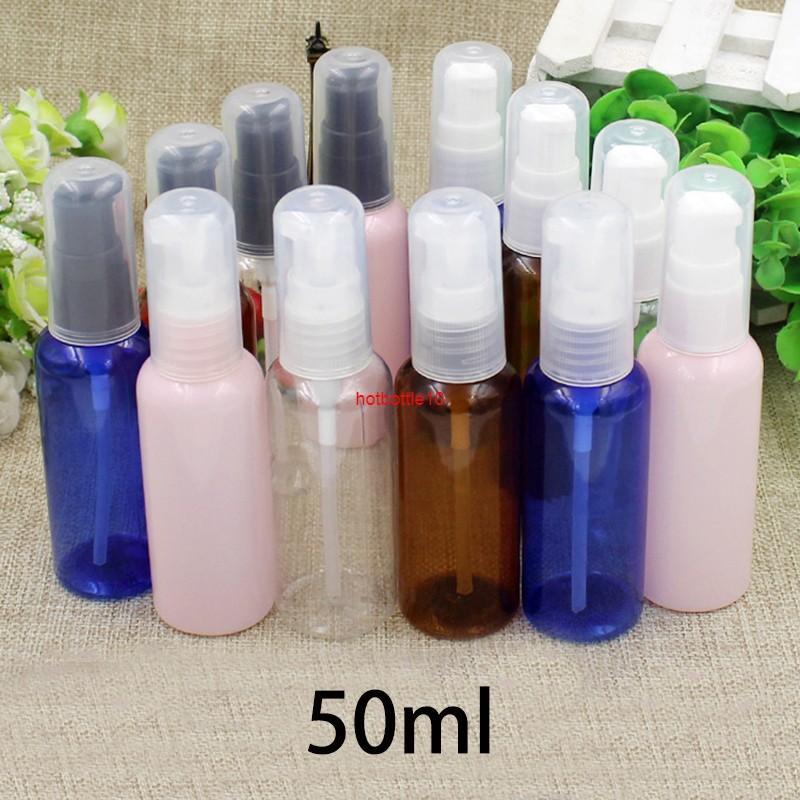 50ml de plástico de plástico botella de bombeo 50 g de champú cosmético ducha gel de gel de crema emulsión envasado pumper contenedores de pulverización gratuitos Shippingshipping