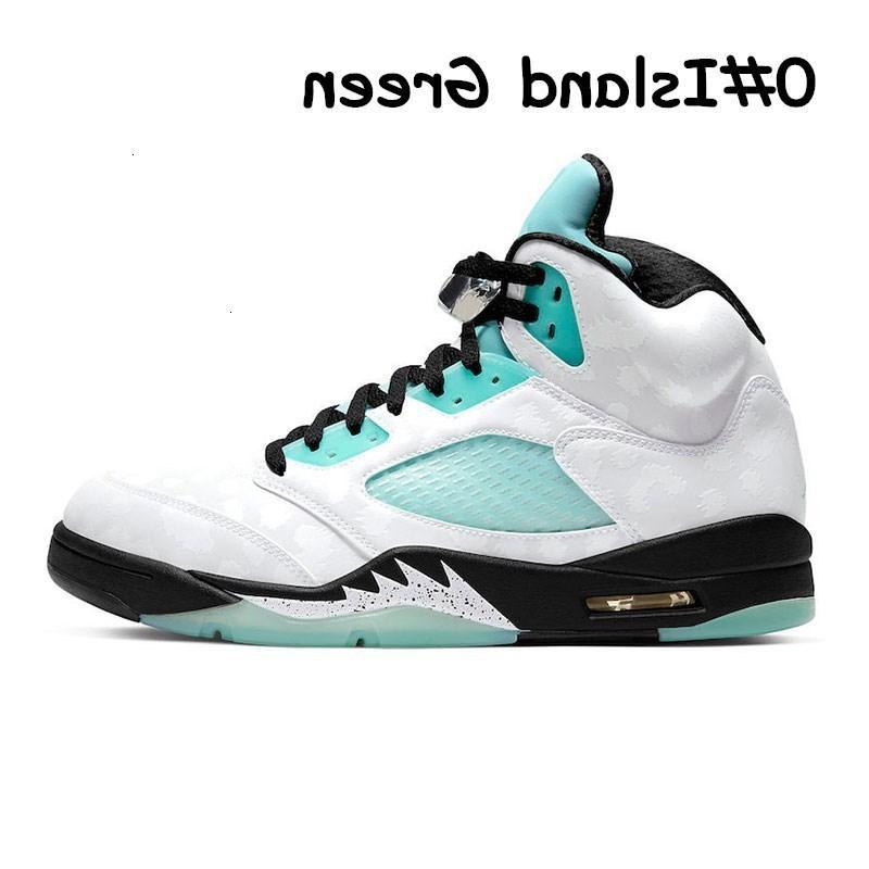 5s Mens tênis de basquete Island 5 Green White Cement Ice Blue Metallic Michigan Olímpico Trainers Jumpman Sports Sneakers Des Chaussures M8o2