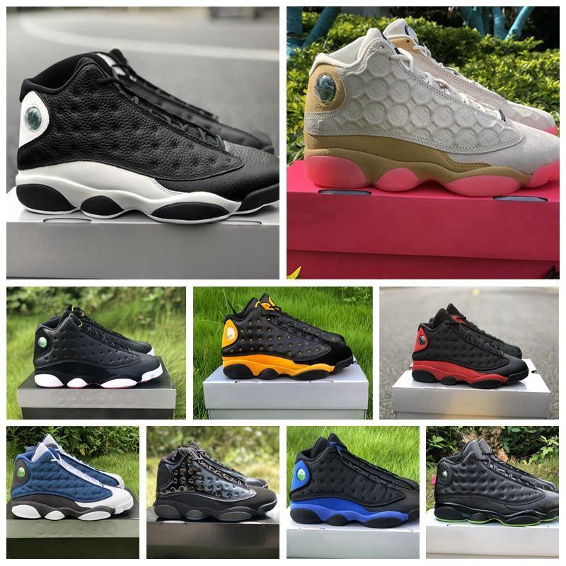 2020 Детская площадка Jumpman 13 13s Мужчины Баскетбол обувь Flint шапочке и мантии острова Зеленый Бред суд фиолетовый Аврора Зеленый Волк серый Мело кроссовки