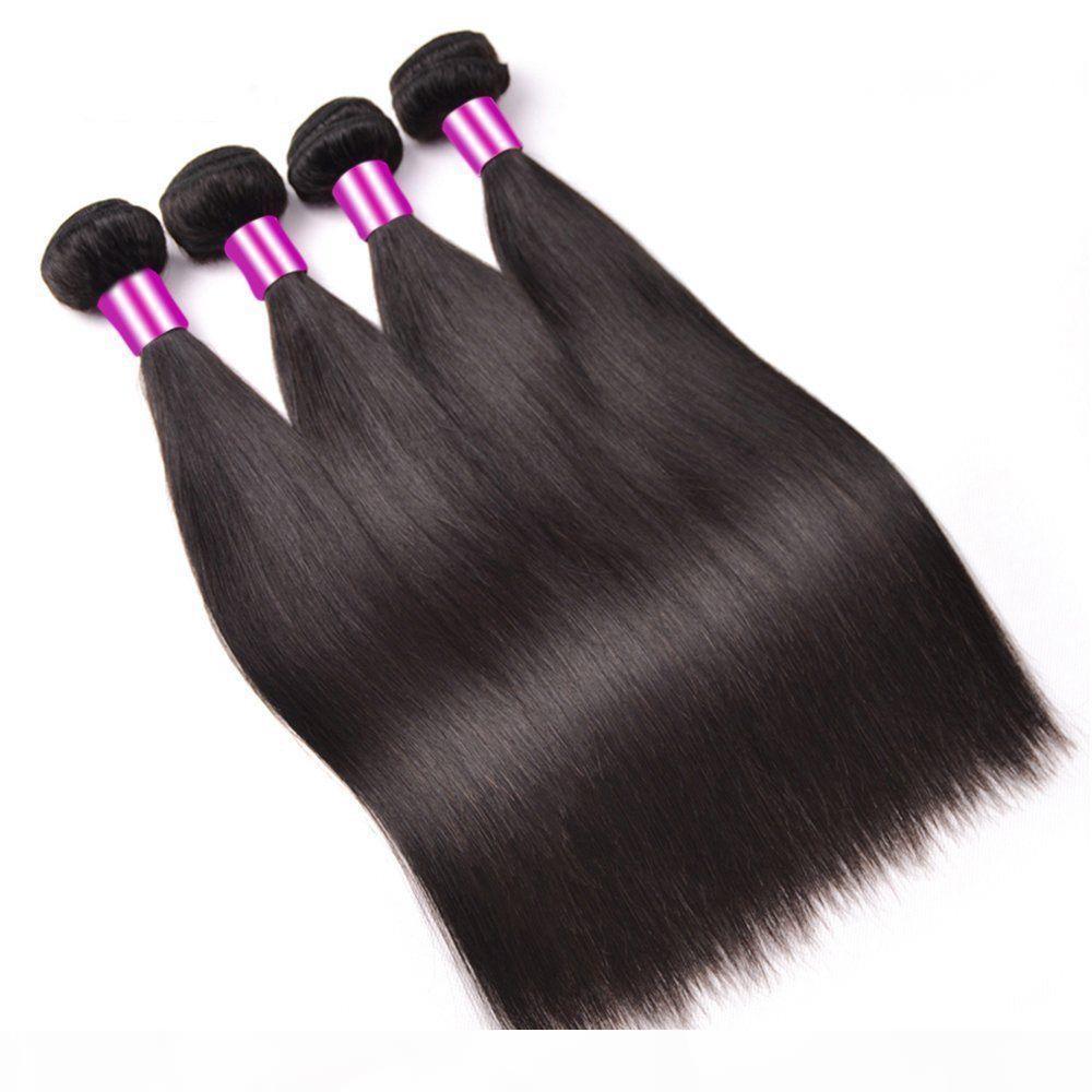 Pelo humano sin procesar al por mayor de paquetes de cabello de onda recta peruana, 120 g de una pieza 3pcs lot, envío gratis