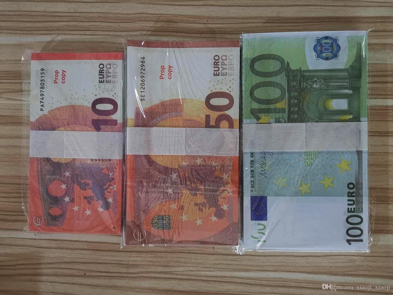20 Atmosphère de billette Prop Euro Faux Billet 10 Faux Play Money Euro 50 20 Money Bar 100 NightClub Movie Money06 RRNMV