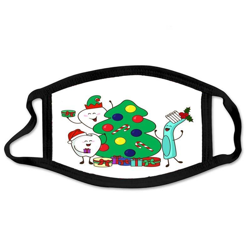 Noël 2020 Masque New Styliste Masques anti-poussières Noël dentaire affiche 2018 Décoration de Noël Cadeaux Masques
