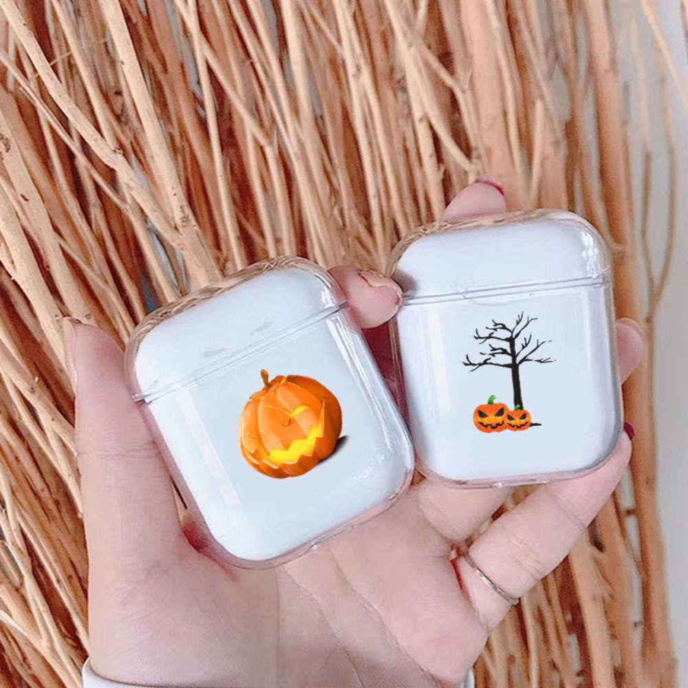 Cadılar bayramı Balkabağı Wirels Bluetooth Kulaklık Kılıfı Temizle Apple Airpods Için 1/2 Yumuşak Silikon Kulaklık Kapak Airpods Çanta