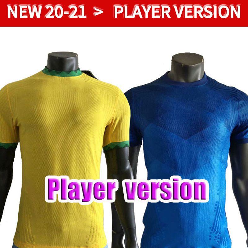 Spielerversion 2021 Neres Brasilien Copa America Home Away Gelb Fussball Jersey 20 21 # 11 P.COUTINHO Fußball-Hemd # 12 Marcelo Fußballuniformen
