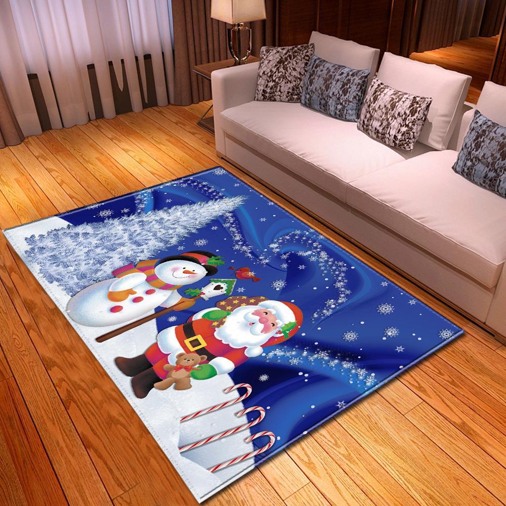 Tapis de Noël pour salon Accueil Décoration Couloir Grands tapis Chambre enfants Chambre 3D Motif pour enfants Chambre à coucher Tapis de chevet LJ201128