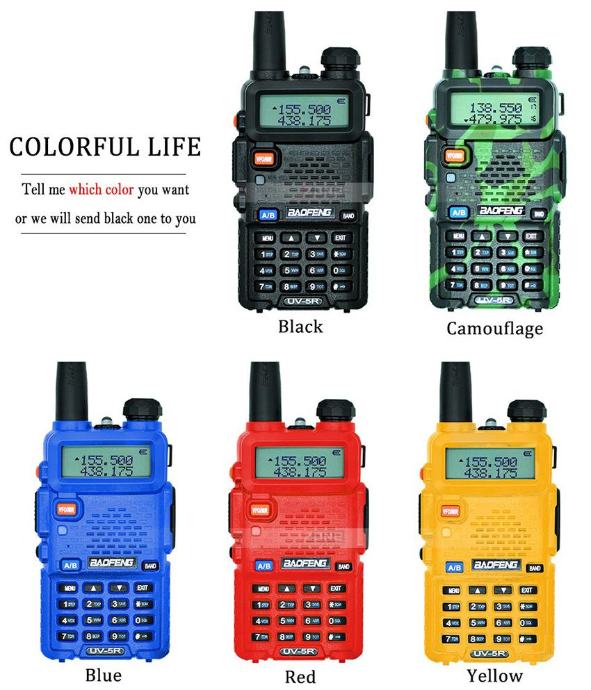 DHL Ship BaoFeng UV-5R Walkie Talkie Professional CB Radio Baofeng UV5R Transceiver 128CH 5W VHF&UHF Handheld UV 5R For Hunting Radio 5pcs