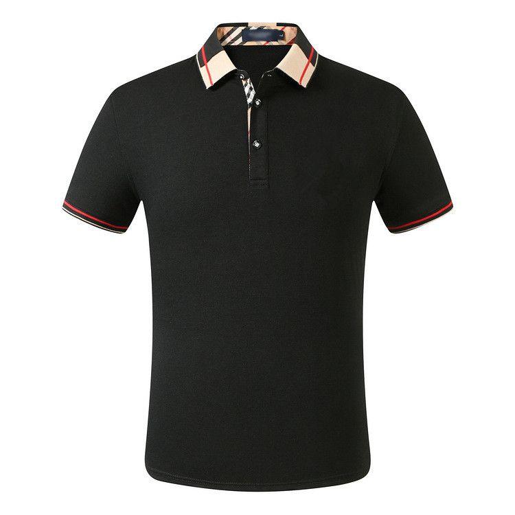 Мода Мужские Polos High Street Повседневная Короткие Рукава Дизайнер Поло Рубашки Мужчины Polos Повседневная Мужская Рубашка Поло Футболка № 7s