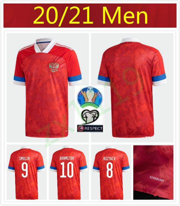 Yeni 2020 2021 Rusya Futbol Formalar 10 Arshavin MIRANCHUK 18 Zhirkov 21 Erokhin 23 KOMBAROV Smolov Erkekler Futbol Gömlek