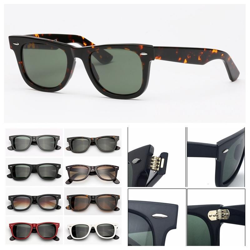 Солнцезащитные очки мода ацетат кадр G15 линзы солнцезащитные очки для женщин мужские с кожаным чехлом