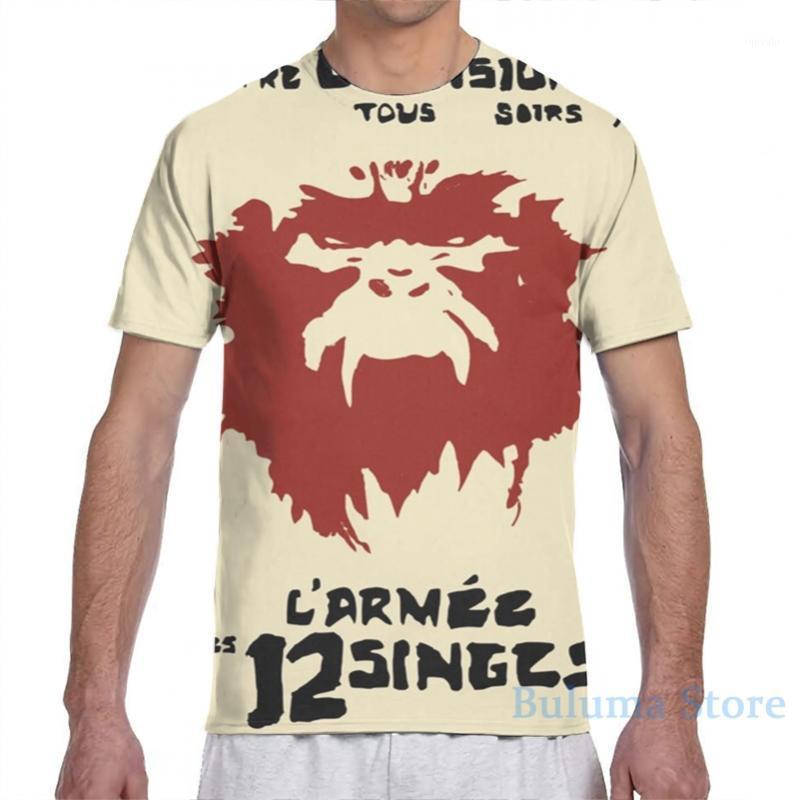 12 monkeys larmee des 12 singes Monkey LArmée des douze singes men T-Shirt women all over print girl t shirt boy tops tees1