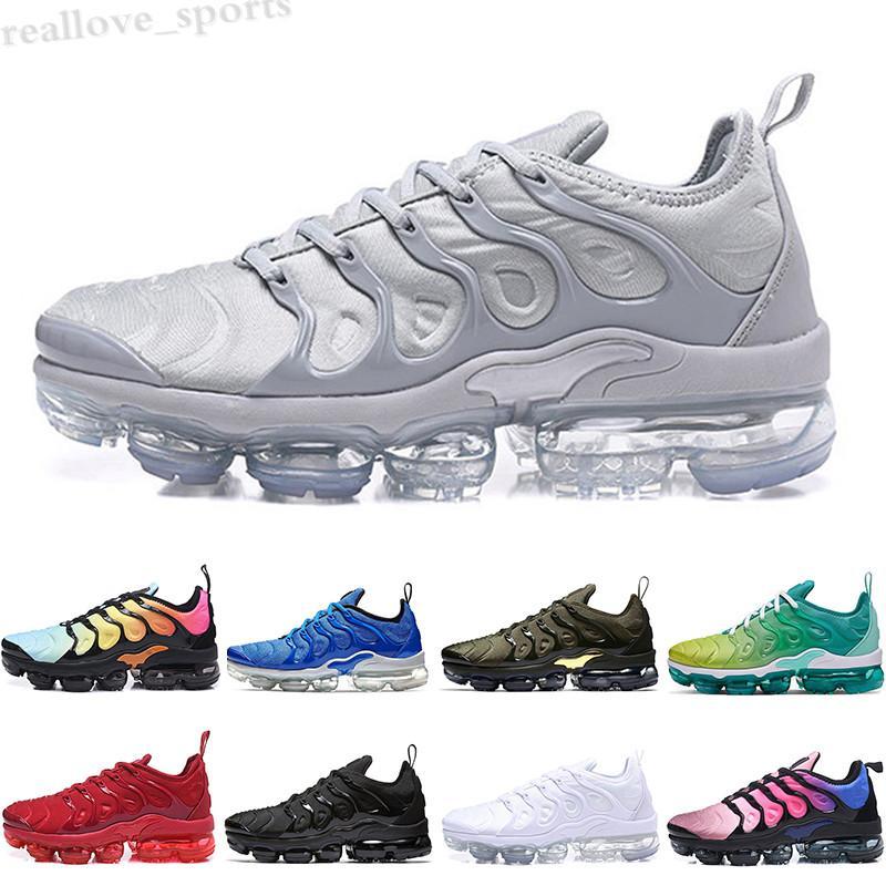 NIKE Air MAX TN PIUS 2019 tn plus arco iris zapatos hombres mujeres uva negro voltio suela ultra blanco zapatos de diseñador negro zapatillas deportivas 5-11 TA06