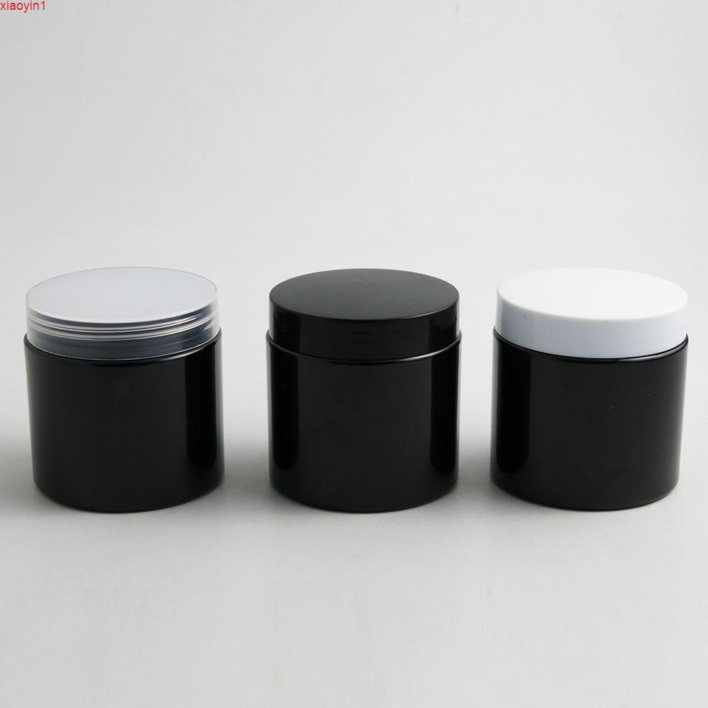 24 x 200g Boş Siyah Kozmetik Krem Konteynerler Kavanoz 200cc Kozmetik Ambalaj için 200cl Capgood Kaliteli Plastik Şişeler