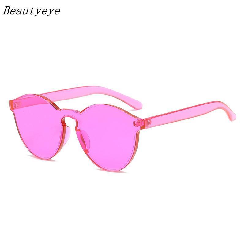 Fashion Hommes Lunettes de soleil colorées Femmes lunettes Framedess Marque Eyewear Designer Beautyeye TRANSPARENT SUNGLASSES UNISEXE VINTAGE IJXHS
