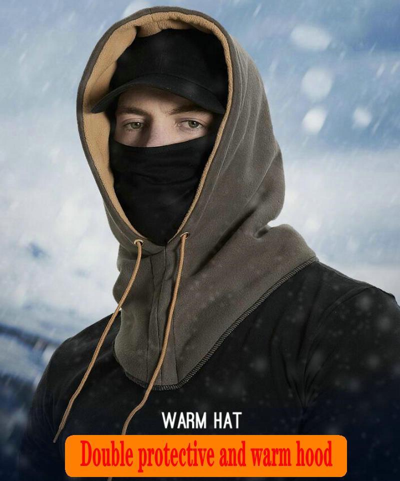 MASKE cálidas sombrero sombreros para hombre máscara gorra de invierno de los hombres 201027