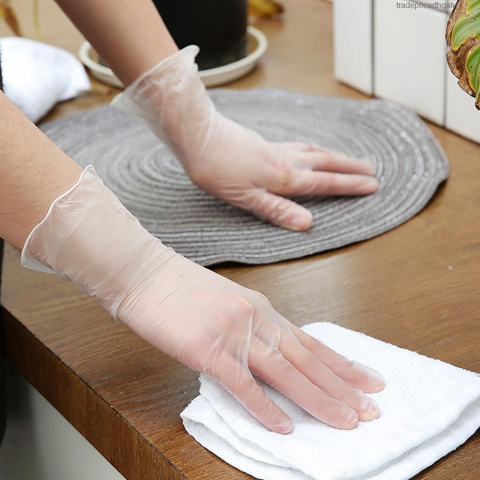 Tek Kullanımlık Nitril Gerçek Eldiven Sınıf 100 ADET Lateks Dropshipping Eldiven Gıda Temizleme Pişirme Restoran Mutfak Aksesuarları için