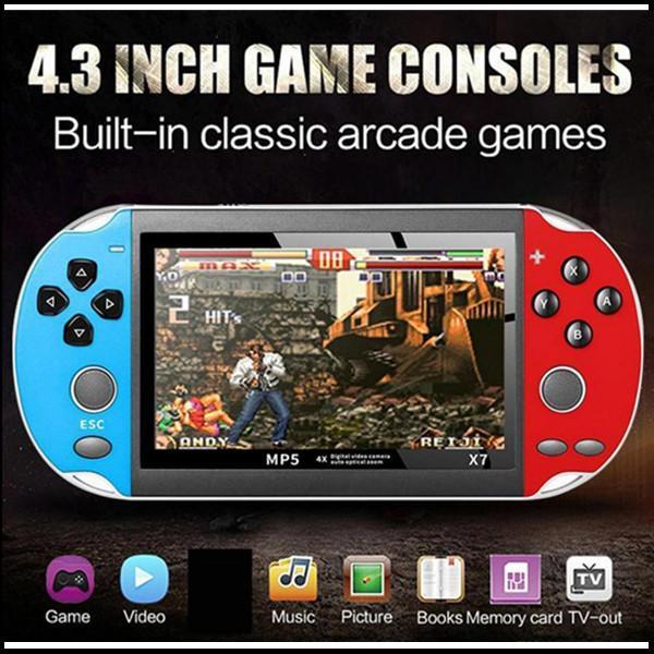 4,3 pouces pour GBA Handheld Game Console X7 Jeux vidéo 300 Jeux de rétro gratuits Jeux LCD Lecteur de jeu pour enfants