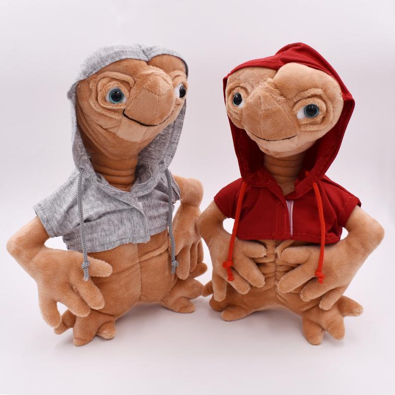 25 cm e.t alienígena boneca de pelúcia brinquedo e a boneca extra-terrestre com pano de alta qualidade crianças presentes de natal frete grátis Q1217