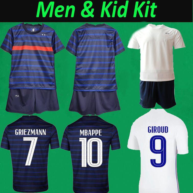 France euros 2021 Jersey de football 20 21 Mbappe Grieuzmann Pogba Football Chemises et shorts fr Accueil Hommes Hommes Kids Soccer Kits Maillot de pied