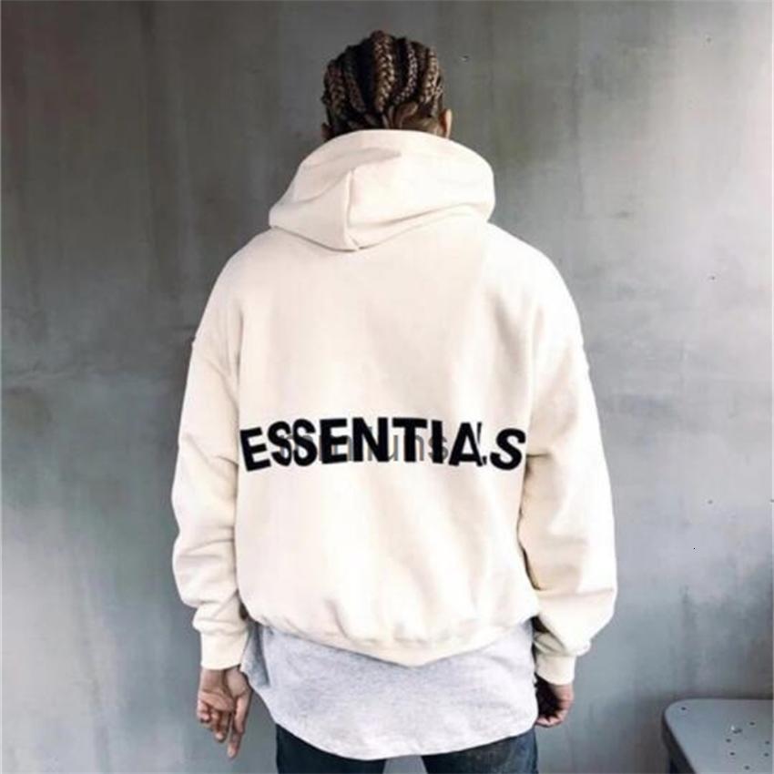 Fábrica2J8streetwear Essentials Essential Capuz Mens Moda Moda Pulôver Sueter Loose Nevoeiro Marca Hoodies Lovers Tops Tops Roupas