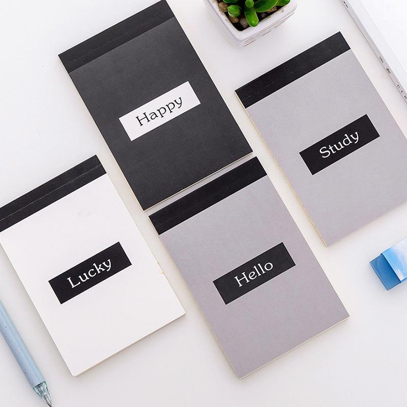 A7 Página forrada Página Memorando Folhas Dobráveis Notas Memo Pad Scrapbook Notepad Book Board Board Board Viagem Papelaria Escritório Decorações1