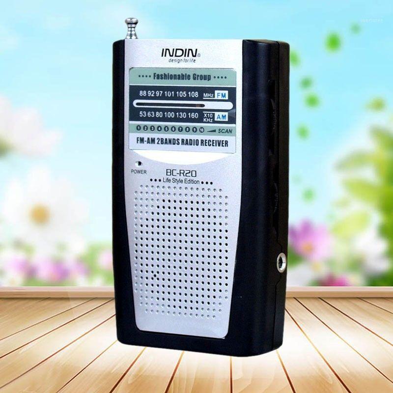 Récepteur radio de poche construit en haut-parleur Universal portable AM / FM Radio Radio BC-R20 HQ1