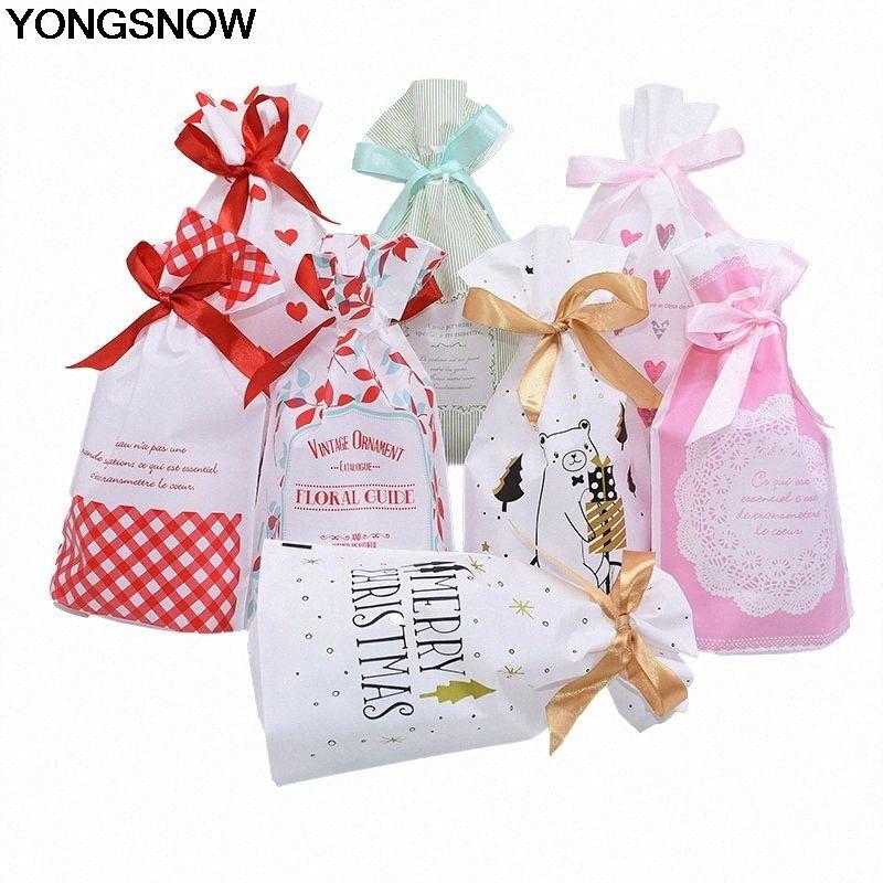 5 / 10Pcs 23x15.5x6cm 14colors Kunststoff Süßigkeit Keks-Geschenk-Beutel-Kasten für Hochzeitsfest-Ausgangsdekoration Weihnachtsweihnachtsverzierung RbAH #