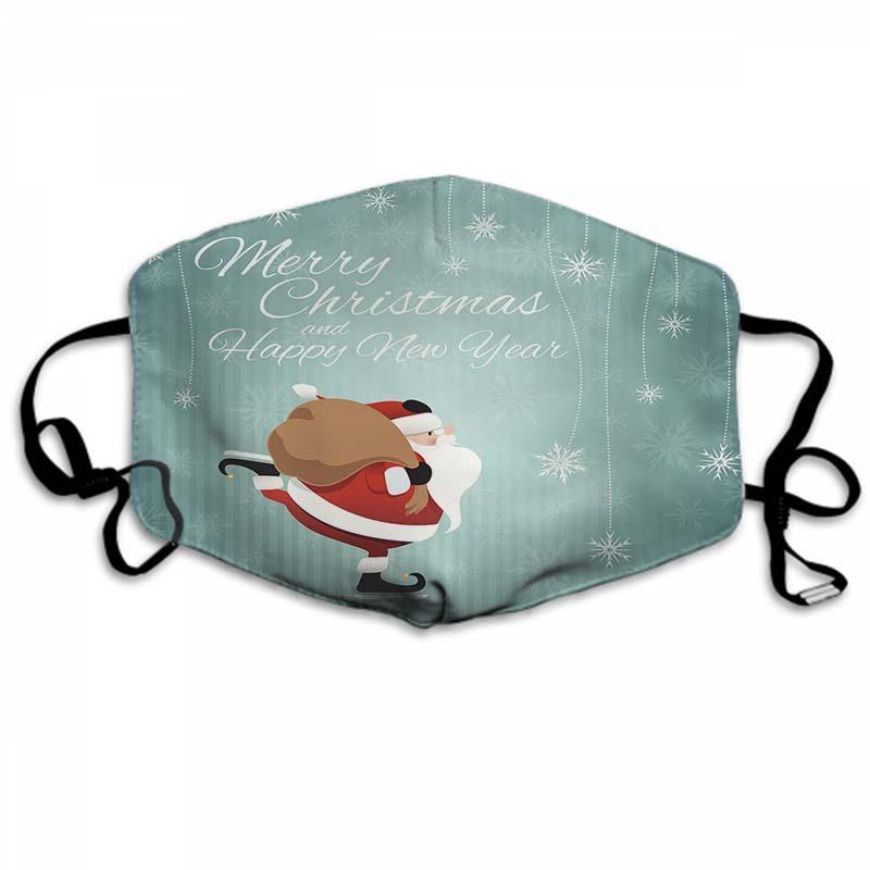 Weihnachten Masken-Halloween-Gesichtsmaske Designer-Gesichtsmasken Geeignet für Erwachsene und Kinder Weihnachten 181