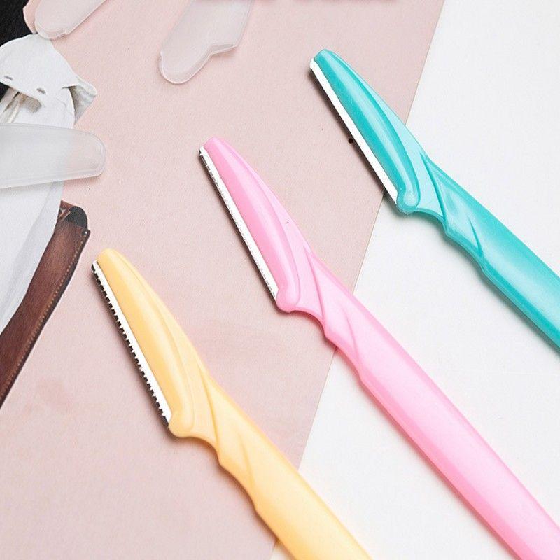 1 ADET Kaş Jilet Taşınabilir Kaş Düzeltici Katlanabilir Saç Sökücü Kadın Yüz Razor Kaş Düzelticiler Bıçakları Tıraş Makinesi Güzellik
