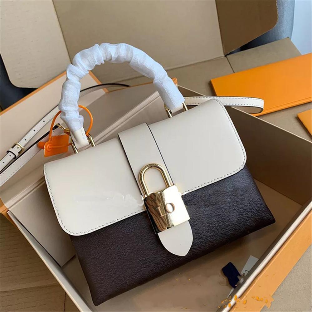 Bolsa de ombro venda quente designer bolsa fivela saco de fivela bloqueio bolsa dourada de couro de couro de couro shopping único 2020 pnlci